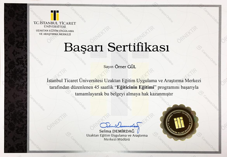 Bir sertifika aldım - bir üniversite seç